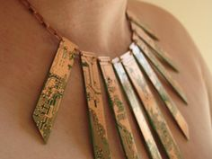Upcycled Jewelry Turns Circuit Boards Into Stunning, Wearable Pieces