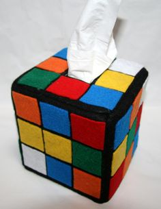 Rubik's Cube Tissue Box Office Decor