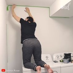 room makeover videos How AWESOME. Furniture Plans, Kitchen Furniture, Apartment Makeover, House Rooms, Home Projects, Home Remodeling, Laundry Room, Diy Home Decor, Retro