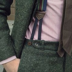 Parisian Gentleman: mnswrmagazine: Details… By Tweed Wedding Suits, Tweed Suits, Mens Suits, Mens Tweed Suit, Suit Fashion, Mens Fashion, Fashion Clothes, Fashion Outfits, Costume Vert