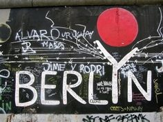 Berlin graffiti...on one of the remaining stretches of the Berlin Wall by Selkie~gal