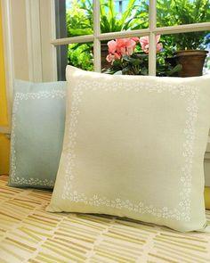 DIY Pillow DIY Stenciled Pillow DIY Pillow