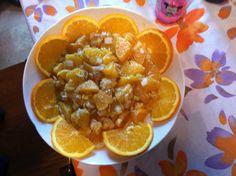 Insalata di arance con cipollotto e pepe nero