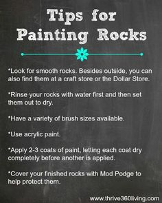 Thrive 360 Living: The Very Hungry Caterpillar Painted Rocks -- great tips for painting rocks (shared along with a really cool project! Pebble Painting, Pebble Art, Painting Tips, Stone Painting, Art Rupestre, Art Pierre, Pet Rocks, Kindness Rocks, Very Hungry Caterpillar