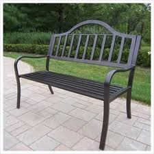 outdoor metal benches