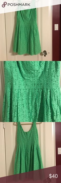 """Green """"Posey"""" Lily Pulitzer Dress Worn once, fit & flare Lilly Pulitzer Dresses"""