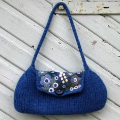 felted felting bag applique