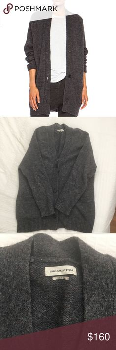 Isabel Marant Rider Cardigan in Grey Isabel Marant Rider Cardigan in Grey.  Made in Italy, size 42. Fits a US womans M or L. Button front closure, front pockets. Perfect condition. Isabel Marant Sweaters Cardigans