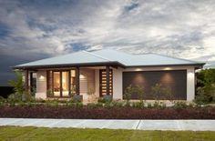 fachadas de casas pequeñas modernas de una planta con iluminacion