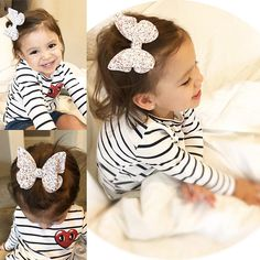 This butterfly bow comes with a flat alligator clip attached to the back