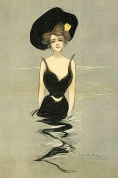 The Black hat - 1902 - Fashion illustration by Hamilton King - @~ Mlle