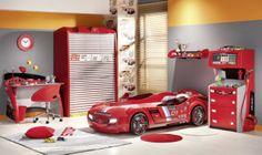 racing car room ideas | Inspiring Race Car Room Decor for Kids Room Ideas: Yellow Wall Combine ...