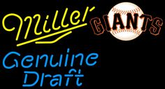 Miller Genuine Draft Giants Neon Beer Sign, Miller MGD with MLB Neon Signs | Beer with Sports Signs. Makes a great gift. High impact, eye catching, real glass tube neon sign. In stock. Ships in 5 days or less. Brand New Indoor Neon Sign. Neon Tube thickness is 9MM. All Neon Signs have 1 year warranty and 0% breakage guarantee. Neon Beer Signs, Sports Signs, Washington Wizards, Minnesota Twins, Washington Redskins, 1 Year, Mlb, Ships, Delivery