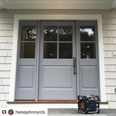We love this beautiful front door unit that just installed. Thanks for sharing with us! Front Entry, Entry Doors, Entrance, Garage Doors, Beautiful Front Doors, Raised Panel, Wood Doors, Curb Appeal, Home Improvement