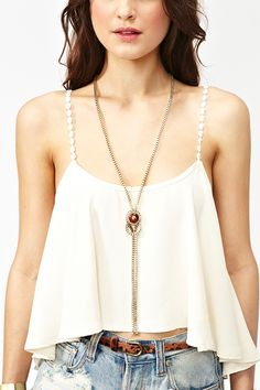 Chained Tassel Necklace