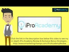 Check out this exclusive review of the iPro Academy and Video Drill and learn about the advantages and dis-advantages of this product -- iPro Academy Review --- https://www.youtube.com/watch?v=ErEutLctPUQ