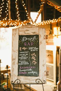Dessert bar sign!   Off The Beaten Path Weddings - Catering, Planning, Styling in Wine Country