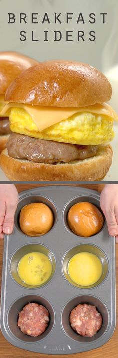 Sliders are often associated with burgers, but why not try them on for size with your breakfast sandwich?