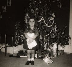 Cute vintage pictures of kids on Christmas morning.