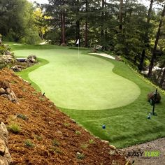 We're shaving strokes off our short game on EasyTurf, are you? l golf l putting greens l fake grass l design l backyard l sports l