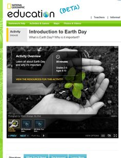 Nat Geo Education - Intro to Earth Day - -  Pinned by @PediaStaff – Please Visit http://ht.ly/63sNt for all our pediatric therapy pins