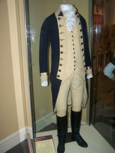 George Washington's Uniform That He Wore During the Revolutionary War. I've actually seen this in person at the Smithsonian in Washington D.C. Can I just say that it gave me goosebumps!