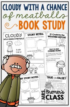 Cloudy With a Chance of Meatballs book study companion activities for K-2
