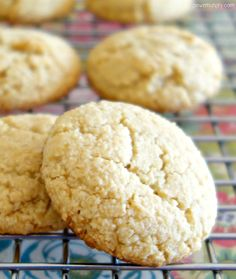 3-Ingredient Almond Flour Cookies {Vegan, Grain-Free, Oil-Free & Paleo} | power hungry