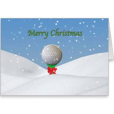 golfers christmas cards - Google Search
