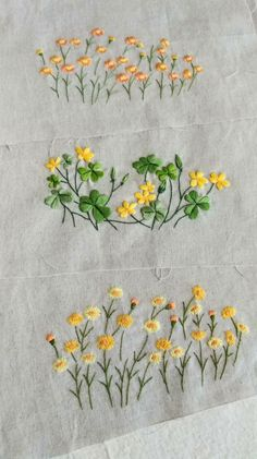 Herb Embroidery, Hand Embroidery Projects, Floral Embroidery Patterns, Embroidery Applique, Embroidery Stitches, Embroidery Designs, Lilies Drawing, Organic Art, Herringbone Stitch