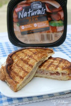 Grilled Black Forest Ham and Cheese Black Forest Ham, Good Food, Yummy Food, Wrap Recipes, Ham And Cheese, Comfort Foods, Recipe Box, Burgers, Grilling