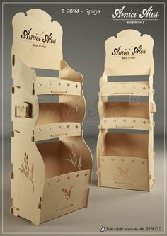 Wood Display Stand, Pop Display, Display Design, Rack Design, Pop Design, Stand Design, Cardboard Box Crafts, Cardboard Display, Graphic Design Brochure