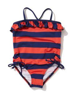 Marcel Stripe Ruffle Swimsuit