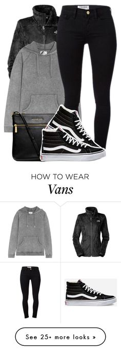 """""""basically what I'm wearing right now"""" by society-is-ugly on Polyvore featuring The North Face, Zoe Karssen, Frame Denim, MICHAEL Michael Kors and Vans"""