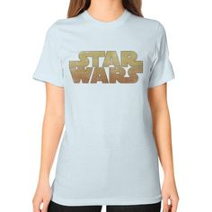 Star Wars Logo Unisex T-Shirt (on woman)