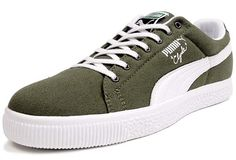 Puma CLYDE CANVAS LEATHER FS [OLIVE/WHITE] (352955 01) Canvas Leather, Well Dressed, Flip Flops, Dress Shoes, Kicks, Formal Shoes, Flip Flop Sandals, Cheap Dress Shoes, Dressy Shoes
