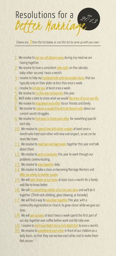 Resolutions for a Better Marriage! Love these ideas!!