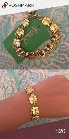 Lilly Pulitzer GWP Gold Elephant Bracelet Brand new with tags Lilly Pulitzer gold elephant bracelet. GWP from spring 2017, no longer available for purchase at Lilly Pulitzer. OFFERS WELCOME :) Lilly Pulitzer Jewelry Bracelets