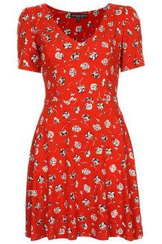 Petite Pansy Floral Tea Dress £29