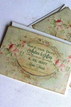 Vintage Elegant Floral Background Save the by AVintageObsession