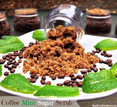 Coffee Mint Sugar Scrub