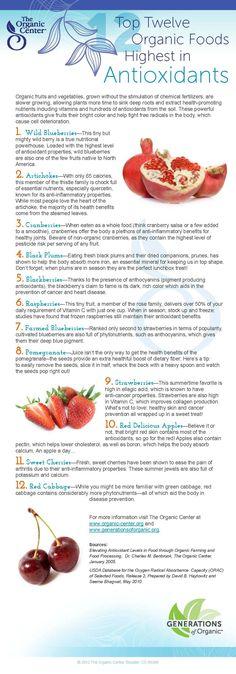 Top Twelve Organic Foods Highest in Antioxidants