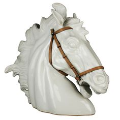 Italian Ceramic Horse Head by Gucci | From a unique collection of antique and modern sculptures at http://www.1stdibs.com/furniture/more-furniture-collectibles/sculptures/