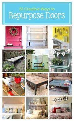 35 Creative Ways to Repurpose Old Doors by bbooky