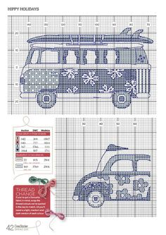 Camper and Beetle cross stitch