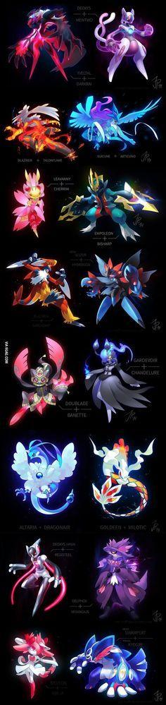 Pokemon Fusions, i wish all pokemon looked this amazing.