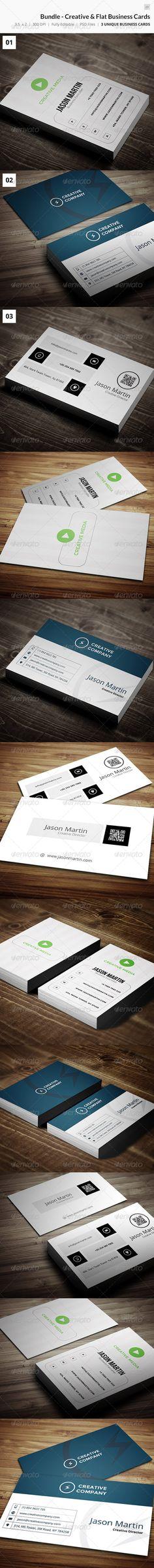Bundle - Creative Flat Business Cards - 23