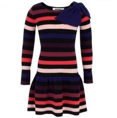 shopstyle.com.au: AlexandAlexa Rykiel Enfant Black Multi Stripe Drop Waist Dress