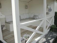 veranda built in furniture Remodeling Projects, Outdoor Decor, Home, Garden Room, Outdoor Spaces, Home Deco, Outdoor Living, Home And Garden, Home Decor
