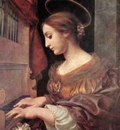 Saint Cecilia at the organ (1671), Carlo Dolci